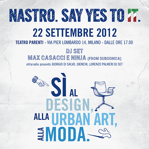 nastro azzurro say yes to it